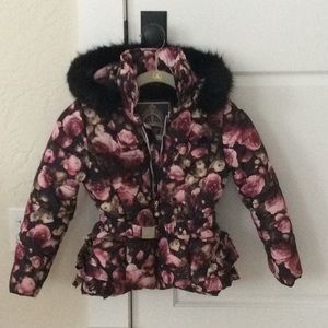 Le Chic rose 🥀 belted puffer jacket